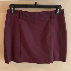 Express Maroon Skirt Size 6